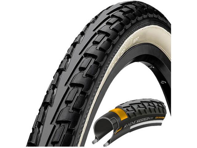 "Continental Ride Tour Clincher Tyre 28"", black/white"